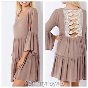 Dresses & Skirts - New Laced Back Peasant Dress